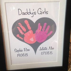 Dad Photo Message Canvas Daddy Birthday Gifts From Baby
