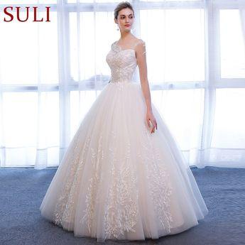 c994d750cba4 SL-336 A-Line Lace Plus Size Princess Long Sleeve Wedding Dress 2018