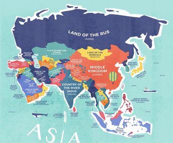 A literal world map