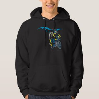 Batgirl on Batcycle Hoodie | Zazzle.com