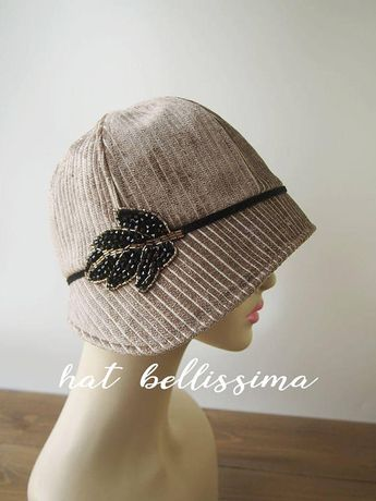 3d5dcbf95 Ivory color 1920's Cloche Hat Vintage Style hat winter Hat