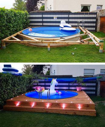 Mit diesen Spots setzen Sie Ihren Swimmingpool richtig in Szene und können die entspannten Sommerabende noch besser genießen. #pool #schwimmbecken #summer #garten #gartenpool #gartengestaltung #gartendesign #gartenideen