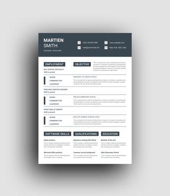 Poseidon Elegant Professional Resume Template - Graphic Templates