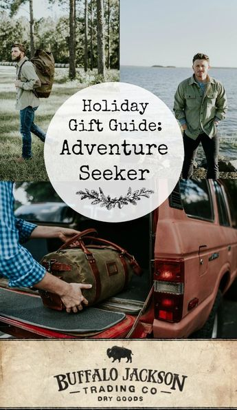 If you're looking for Christmas gift ideas for him this year, check out our 2018 Holiday Gift Guide for men. Shirts, bags, and more — all the best men's gift ideas for guys who love rugged style and a great adventure. #giftguide #giftguides #giftsforhim #mensguides #adventureawaits #honoryourwild