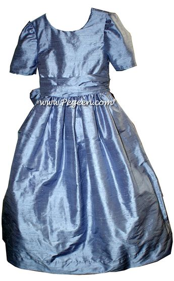 e6be4fda02b Flower girl dresses Style 388 in Euro Peri by Pegeen. Available in over 200  colors
