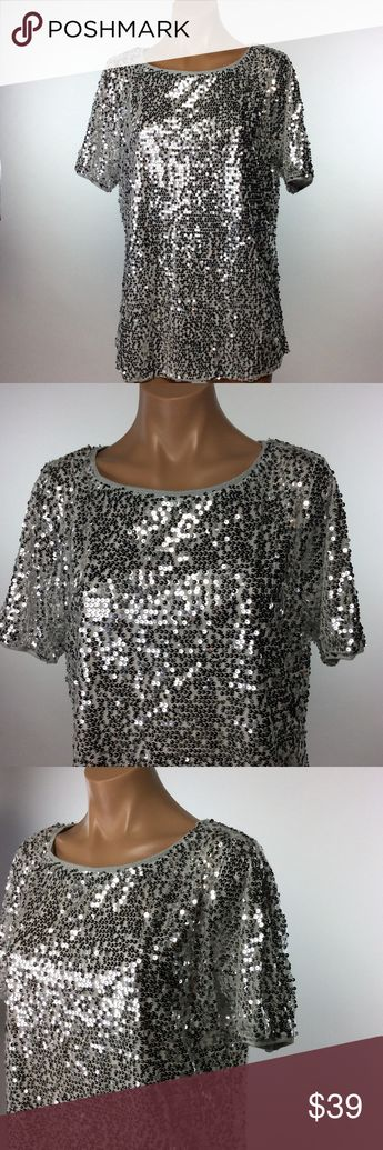 9f7586c594 New Silver Sequin Top SPARKLES FOR DAYS Get your SPARKLE ON with this fun  top!