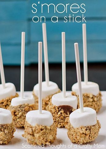 s'mores on a stick. The would be fabulous to have available for little kids to be able to buy cheap.