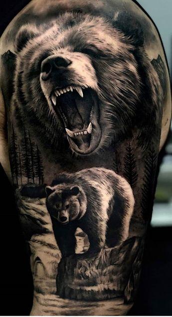 75+ Bold Bear Tattoo Designs, Ideas & Meaning
