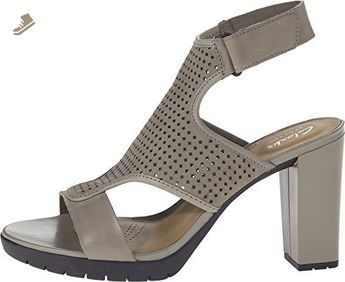 c6d0e80406342 Clarks Women's Pastina Lima Ankle Strap Sandal, Sage Nubuck, Size 12.0 US -  Clarks