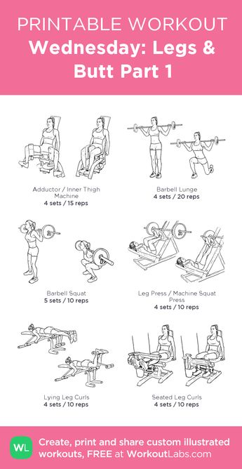 Wednesday: Legs  · WorkoutLabs Fit