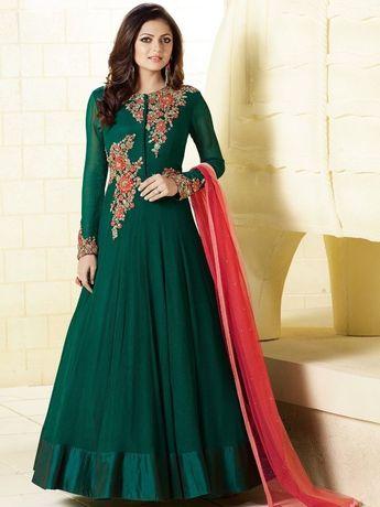 94b615feca75d Details about Bollywood Designer Anarkali Indian Pakistani Long Dress  Ethnic Party Wear 6004