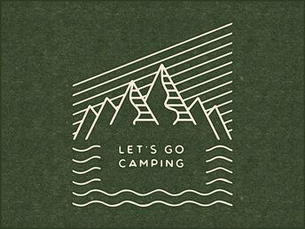 Let's Go Camping Logo Design