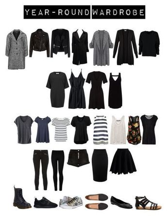 """Year-round Capsule Wardrobe 30"" von toukotakku on Polyvore mit Verpass, Ne  #capsule #mit #polyvore #round #toukotakku #verpass #von #wardrobe #Yearround"