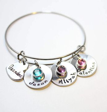 Grandma Bracelet Jewelry Name Necklace Grandmother Bangle