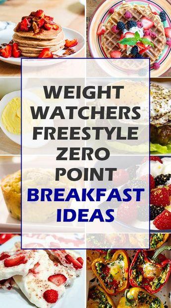 WW Freestyle zero pt breakfast ideas, one for each day of the week. #wwfreestyle #weightwatchers #breakfast