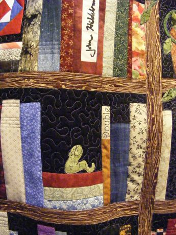 So Clever Bookcase Quilt With Different Fabric For Eac