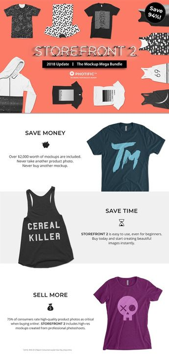 Storefront 2 Apparel Mockup Bundle by Photific on @creativemarket