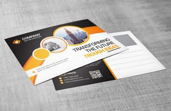 Business Postcard Design - Graphic Templates