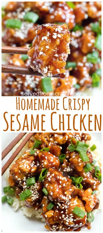 Homemade Crispy Sesame Chicken