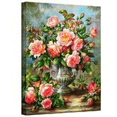 Found it at Wayfair - 'English Elegance Roses in a Silver Vase' by Albert Williams Gallery-Wrapped on Canvas