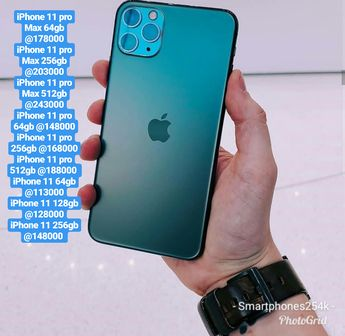 The iPhone 11 pro max 64gb@178000/ 256gb@203000/512gb@243000