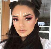 Künstlerisches Make-up Kosmetik Strass und Perücken #Kosmetik #Künstlerische