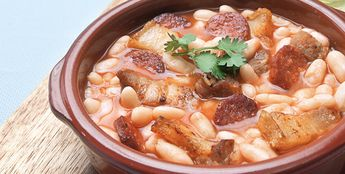 Alubias Con Carne de Cerdo y Chorizo (Beans with Pork and Chorizo)