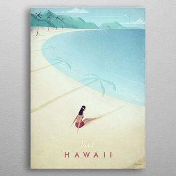 Hawaii by Henry Rivers | metal posters