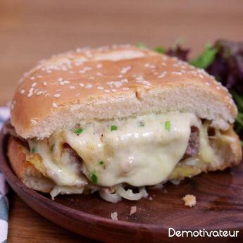 Fan de fromage ? Vous n'allez pas résister à ce burger savoyard à la raclette, même au printemps !