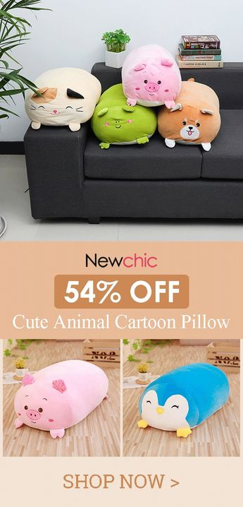 60cm Squishy Chubby Cute Pillow Soft Animal Cartoon Cushion Plush Toy Stuffed Pillow.#home #sofa #cushion