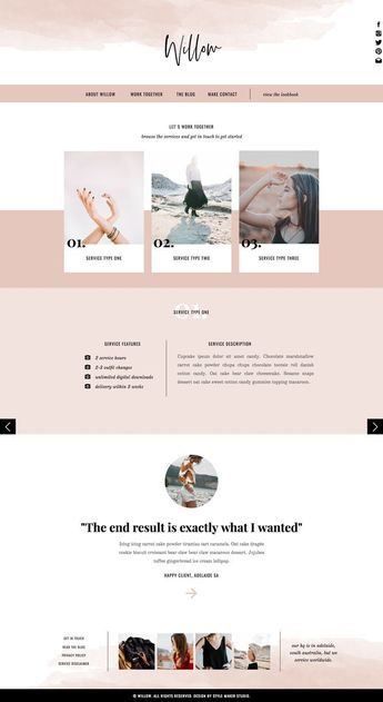Willow | Showit Template, Showit Website, Fashion Photographers | Website Designer | Best Wordpress Website Design | Most Beautiful Websites Graphic Design | Simple Websites To Copy. #smm #DESIGN