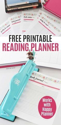 Free Printable Reading Planner For Book Lovers (Fits the Happy Planner)