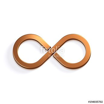 """""""Infinite Bronze Symbol. 3D Render Illustration"""" Stock photo and royalty-free images on Fotolia.com - Pic 194035702"""
