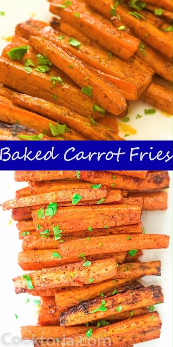 Carrot is such a healthy and delicious vegetable, and these Carrot Fries prove it. They make a fantastic side dish or snack. My toddler is crazy about these and so am I. You definitely don't want to skip this recipe. FOLLOW Cooktoria for more deliciousness! #carrot #fries #lowcarb #keto #ketosis #ketorecipe #sidedish #vegetarian #vegan #recipeoftheday