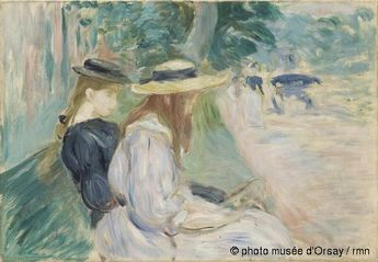 Berthe Morisot  On a bench in the Bois de Boulogne  in 1894  Oil on canvas