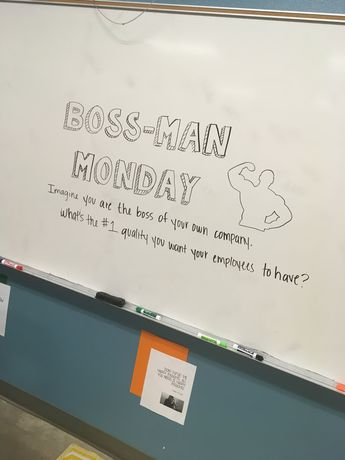 Whiteboard message - Mrs. Collins FCS - Employability skills