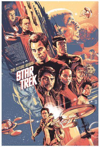 Retro Star Trek 2009 Poster | Sci-Fi Design