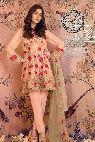 bd39fc64cb Serene Chiffon Suit, Ladies Replica Shop, Embroidered Dresses.