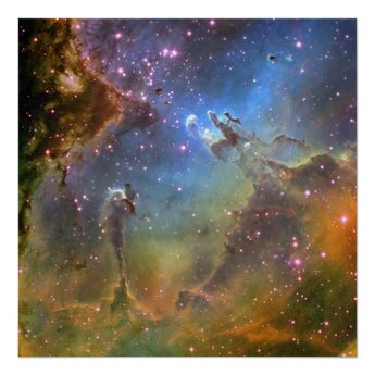 Wide-Field Image of the Eagle Nebula Poster | Zazzle.com