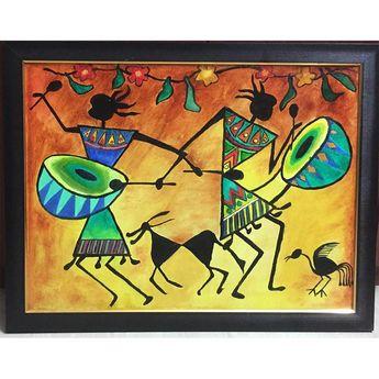 Warli - Lagnacha Chauk - Oil Painting