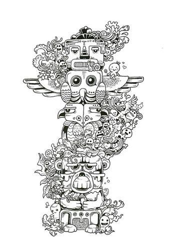 Doodle Fusion Zifflins Coloring Book Volume 2 Zifflin