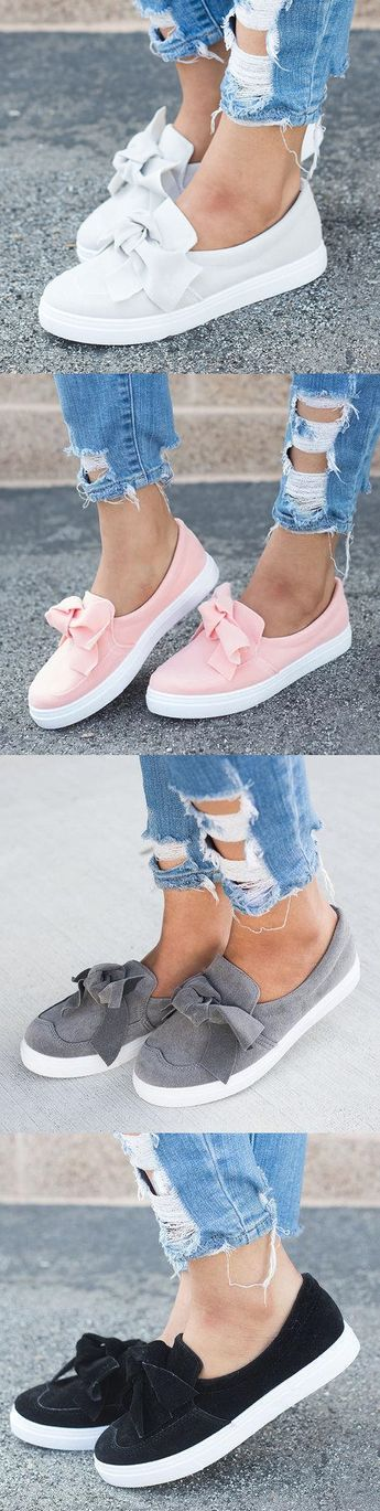 $32.99 USD Women Nubuck Loafers Casual Bowknot Shoes