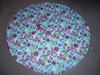 No Sew Two Layer Fleece Car Seat Poncho