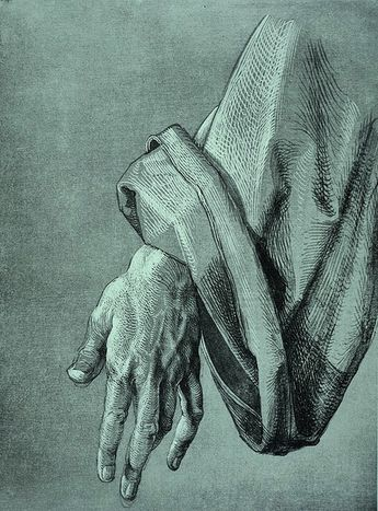 Albrecht Durer 'Study of the left hand of an apostle' for The Heller Altar (circa 1508)