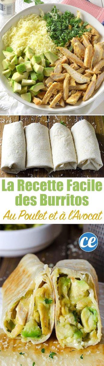 Rapide Et Facile à Faire : La Délicieuse Recette des Burritos au Poulet Et Avocat
