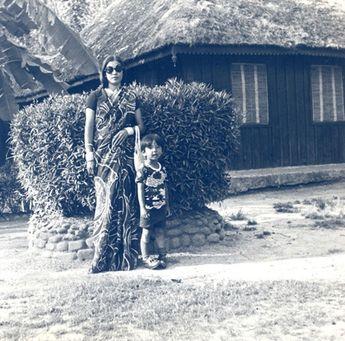 Prabal Gurung with his mother, Durga Rana, 1979 | The Tory Blog
