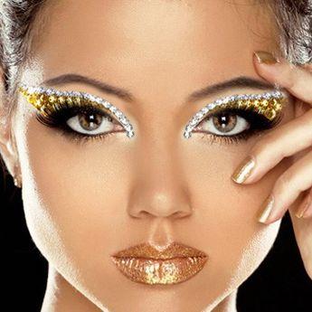 Xotic Eyes Deluxe Stage Makeup Kit - GOLDEN GODDESS