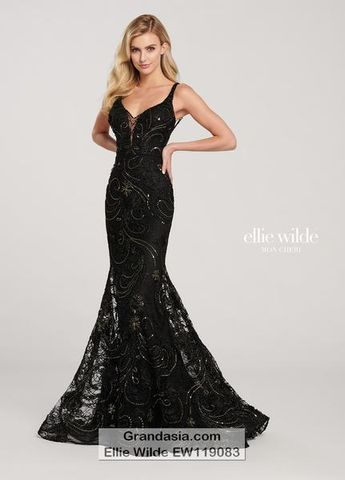 d63ea88aba Ellie Wilde EW119083 Prom Dress - 00   Black