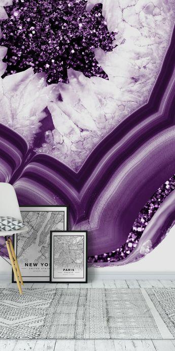 Purple Agate Purple Glitter 1 Wall mural