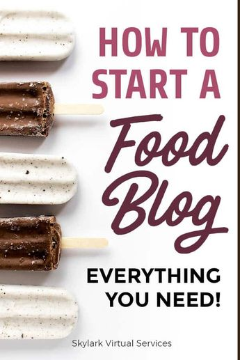 How to Start a Food Blog and What You Need
